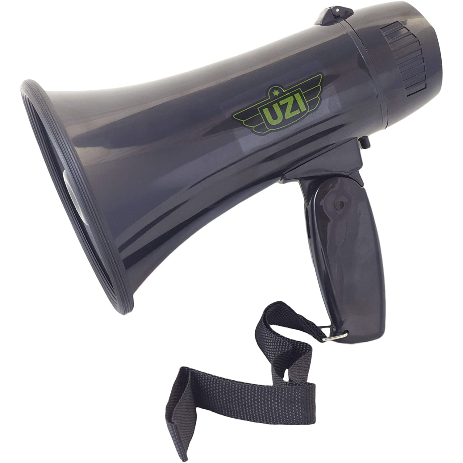UZI Ultra Mini Megaphone Rated 10W/ MAX 15W with Recording and Repeat Playback, part no.UZI-MP-204R. by CampCo