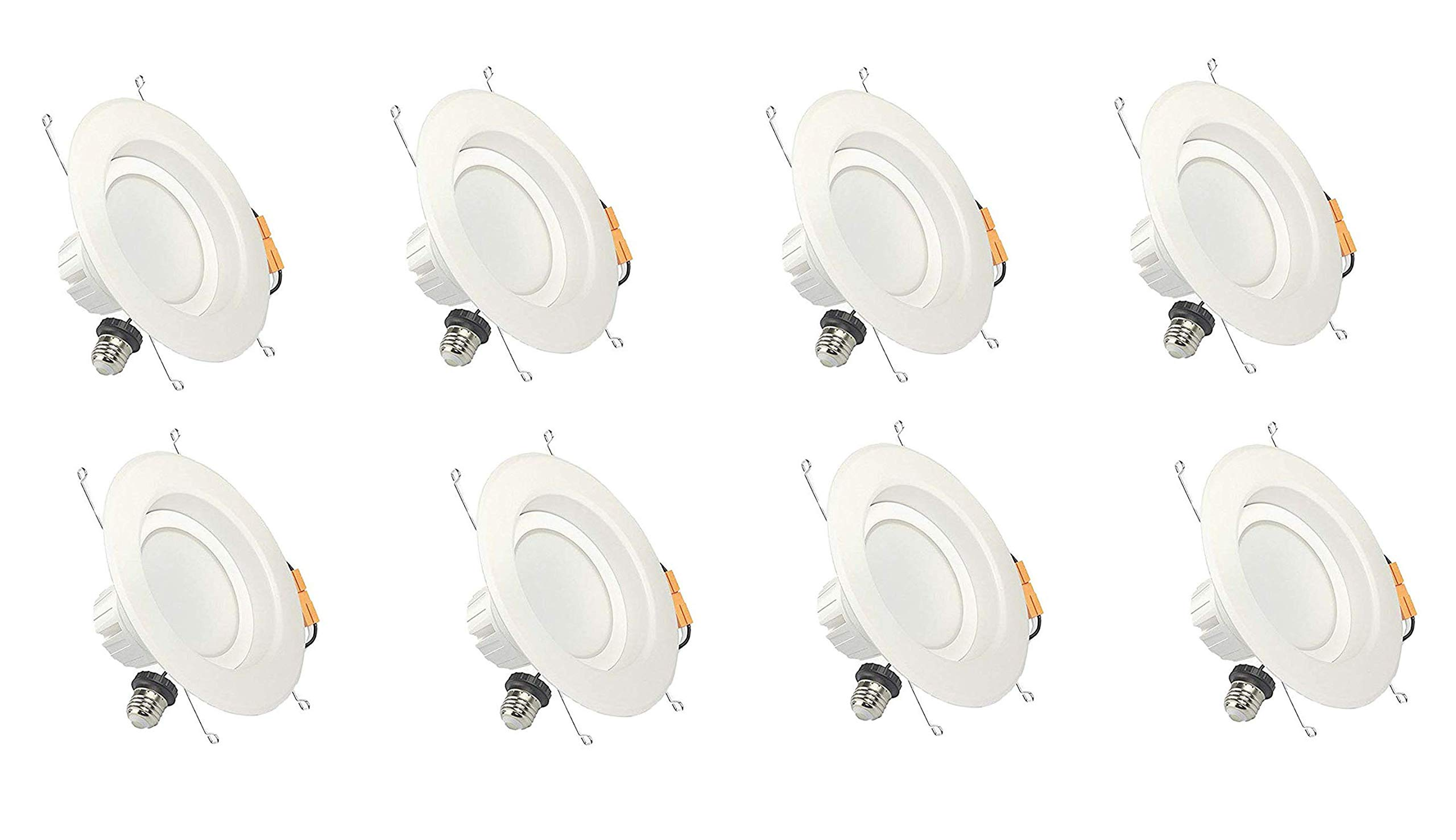 Dynamics 6 Inch LED Recessed Lighting Dimmable Downlight, 13W, 1100 Lumens, Retrofit Lighting Fixture, IP20 (Dry & Damp Location), 5000K, 8 Pack
