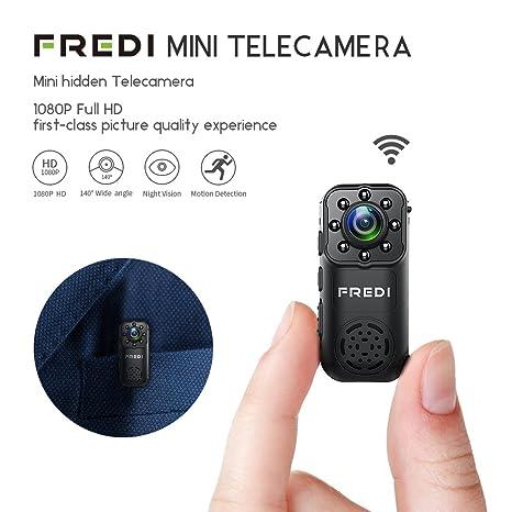 FREDI HD 1080P Videocamera Spia Microtelecamera nascosta per interni ...