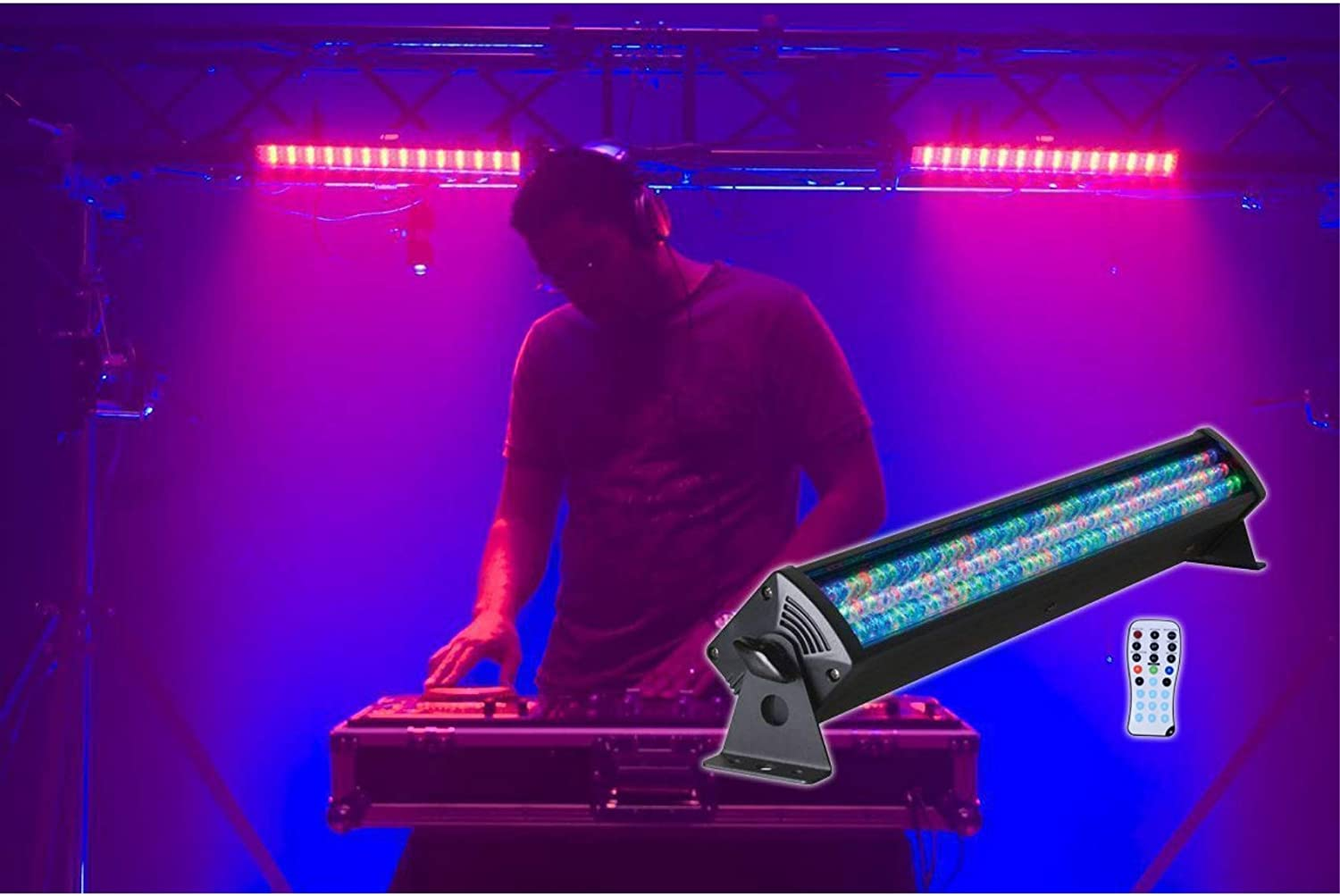 2 American DJ Mega Bar 50RGB RC 50 RGB LED Color Wash+Wireless Remote