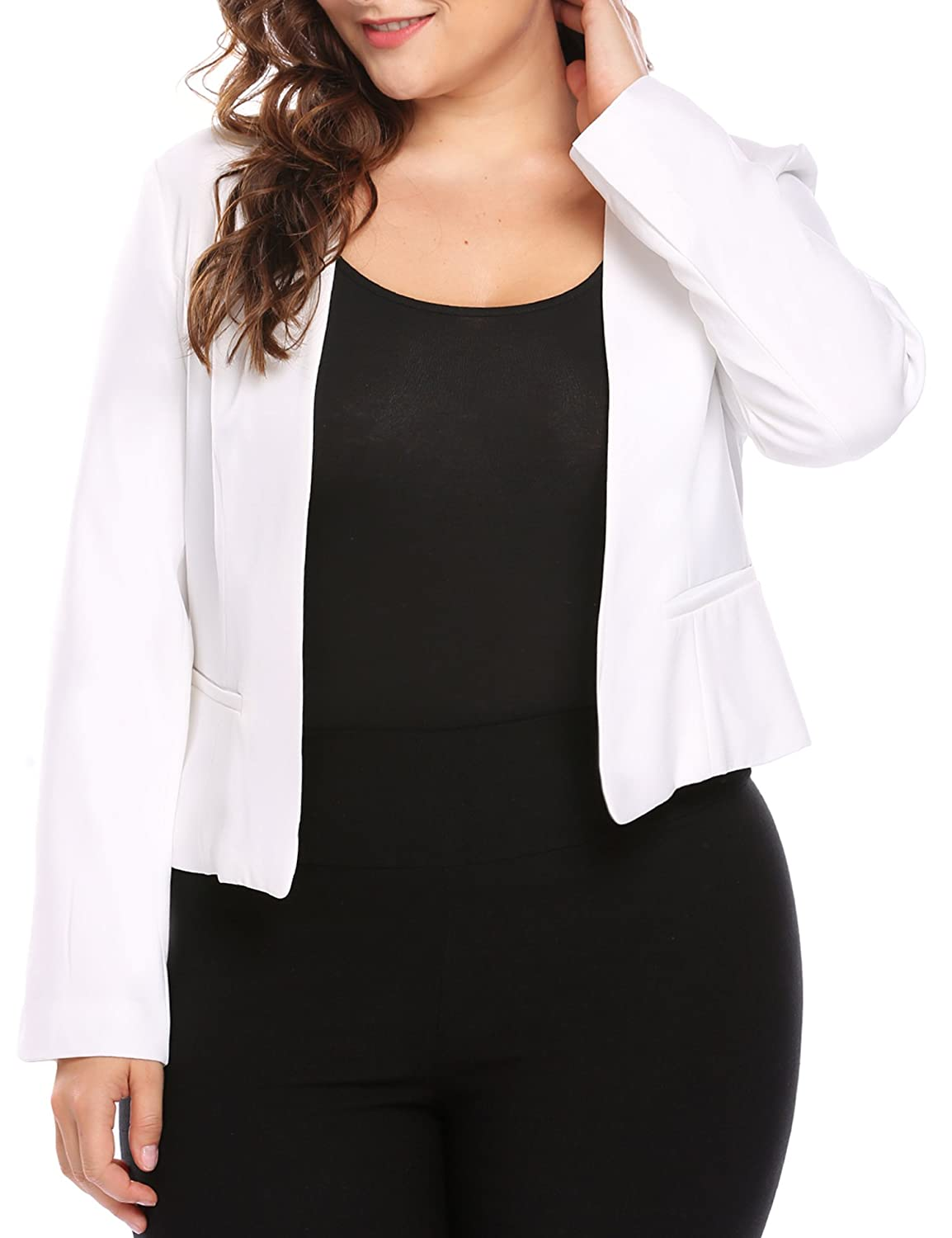 fb14ea43 Open Front Blazer Jacket Design : Elegant and Slimming, Full Lining,  Princess Line, Single Jetted Pocket, Two-piece Sleeve, ...