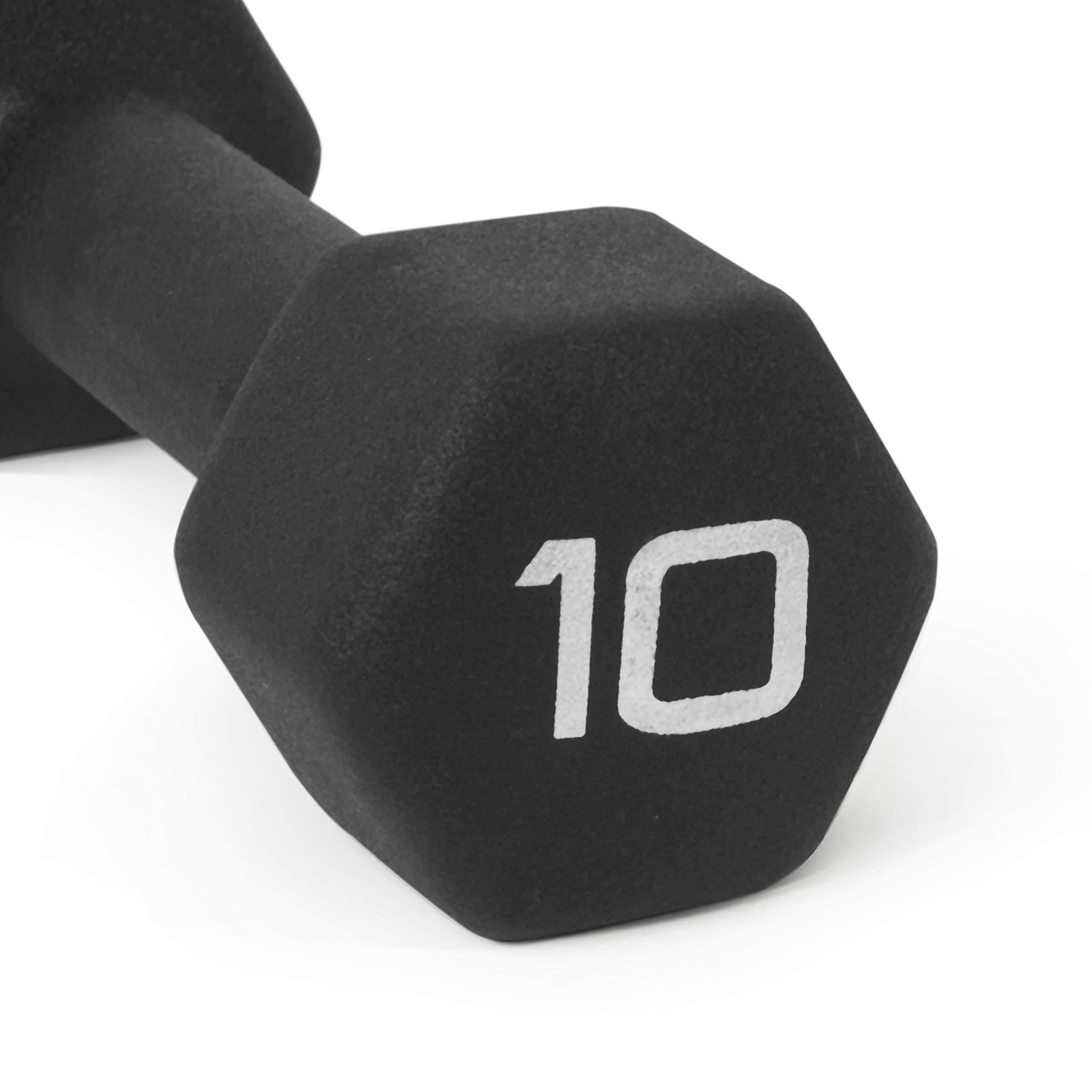 CAP Barbell Neoprene Coated Single Dumbbell, Black, 10-Pound by CAP Barbell (Image #5)