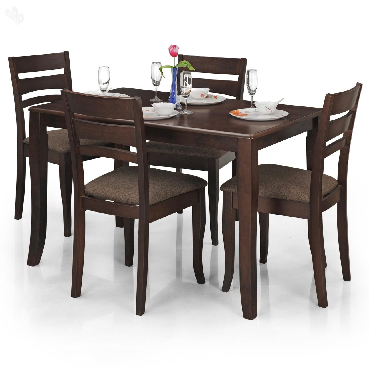 royal oak victor four seater dining table set (walnut) amazonin  - royal oak victor four seater dining table set (walnut) amazonin home kitchen