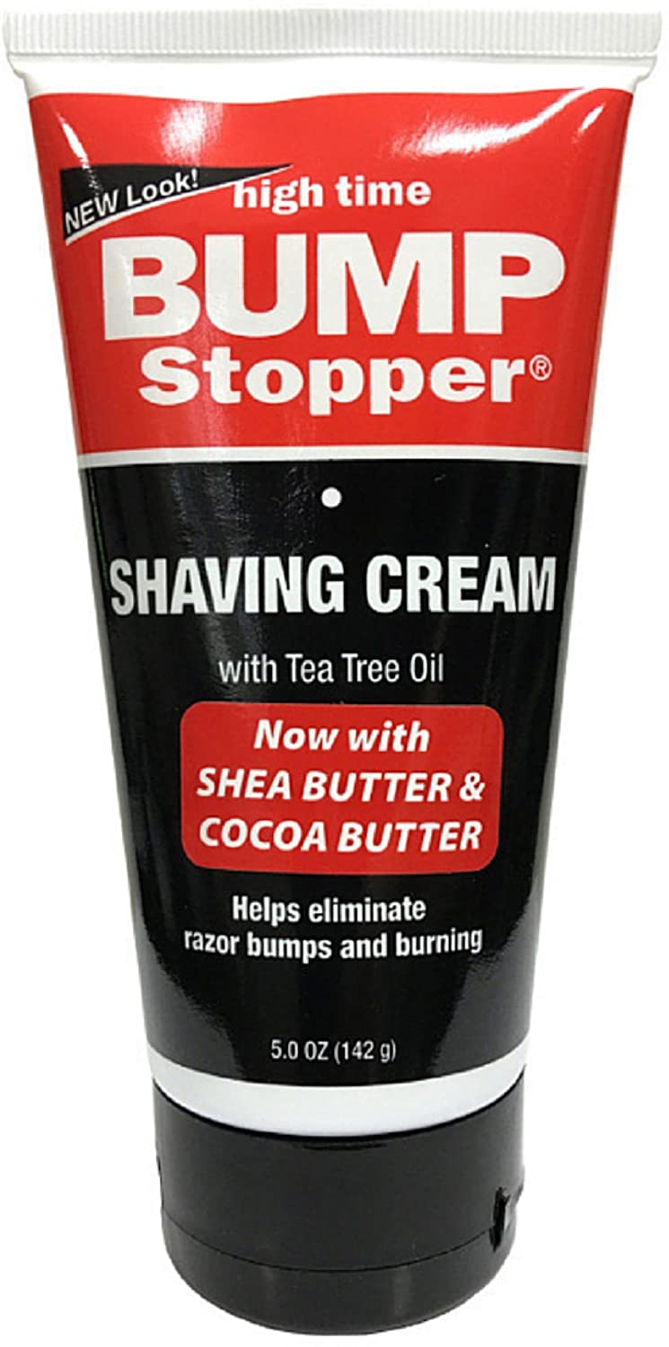 High Time Bump Stopper Shaving Cream With Tea Tree Oil 5 oz (Pack of 3) HIGH TIME PR