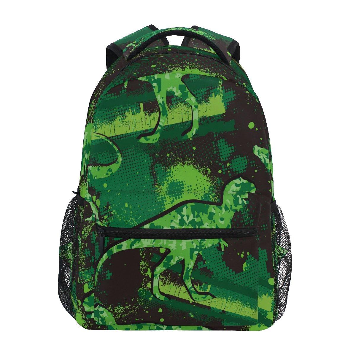 ZZKKO Mochilas de dinosaurio para colegio, libro, viajes, senderismo, senderismo, senderismo, acampada, mochila 1594db