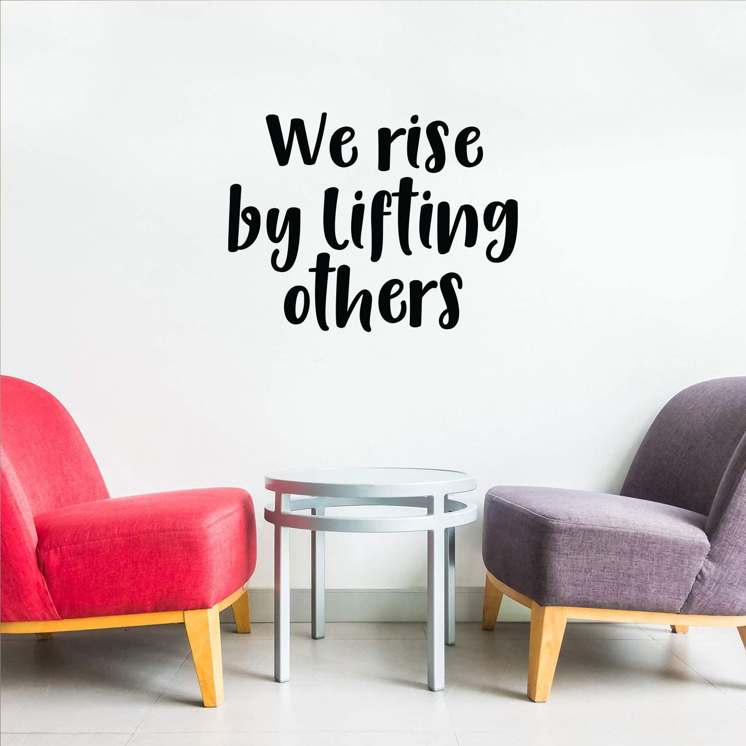 "Vinyl Wall Art Decal - We Rise by Lifting Others - 23"" x 30"" - Good Vibes Quotes - Positive Business Workplace Bedroom Decoration - Motivational Wall Home Office Apartment Decor Sticker"