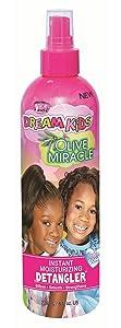 African Pride Dream Kids Olive Miracle Detangler 8 Ounce (235ml) (2 Pack)