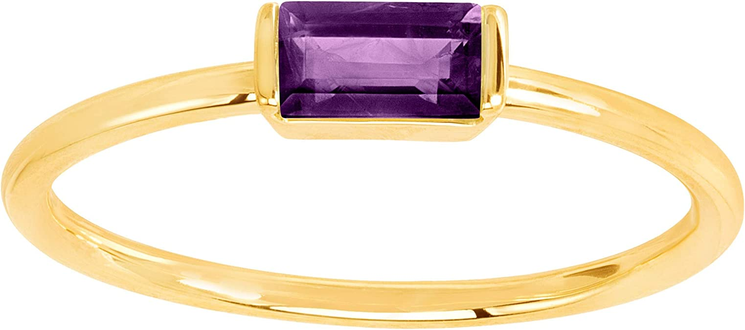 Dainty 14k Yellow-Gold filled Cubic Zirconia Birthstone Ring