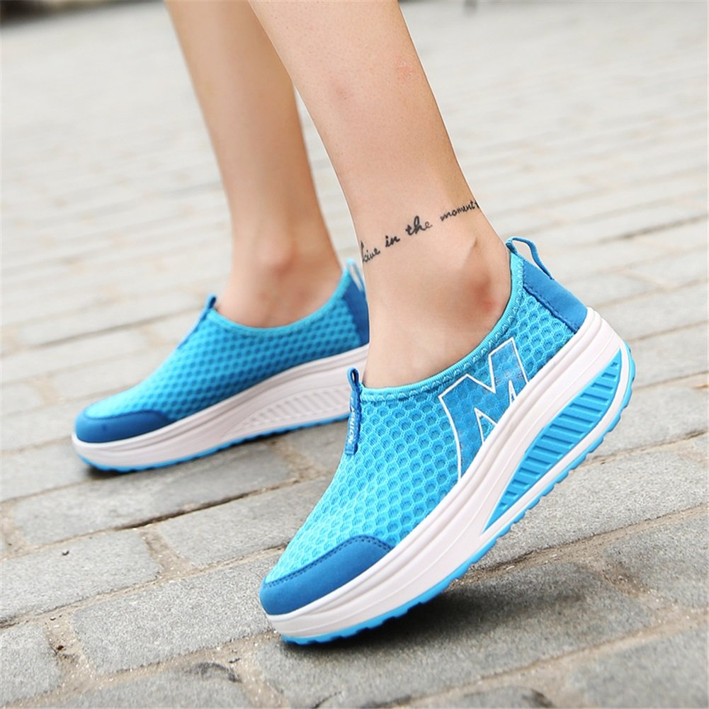 Exing Damenschuhe Tulle Tulle Tulle Sommer Comfort Light Sohlen Shake Schuhe Breathable Shallow Mouth Freizeitschuhe Travel schuhe Fitness Shaking schuhe für Casual b6cae8