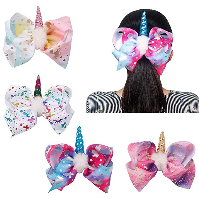 8 Inch Glitter Hair Bows Us Seller Baby & Toddler Clothing