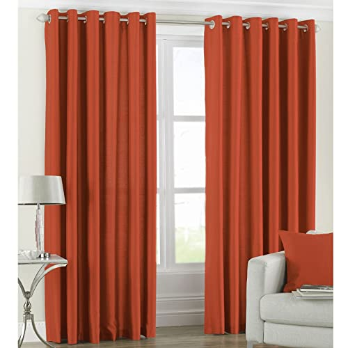 Orange Eyelet Curtains: Amazon.co.uk