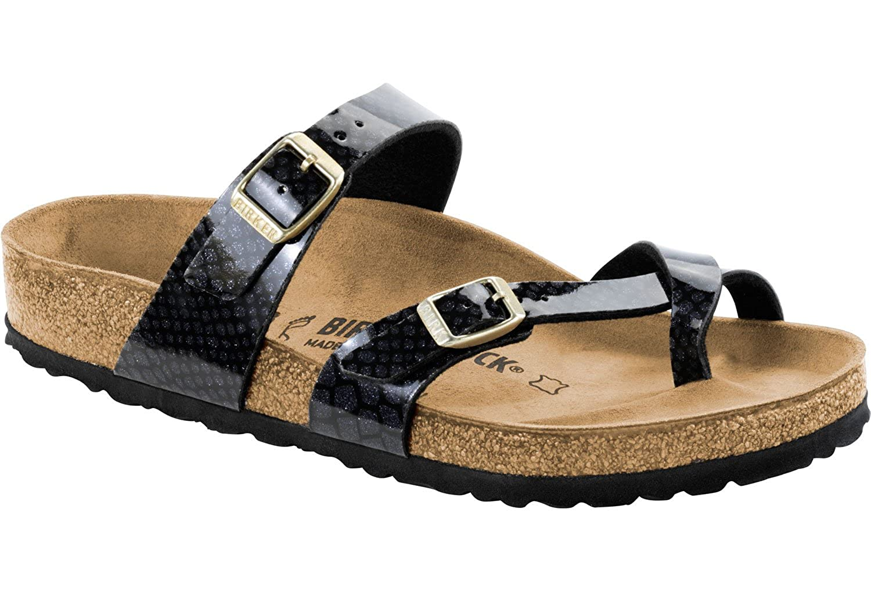 bdaaaffe7da0 Amazon.com   Birkenstock Mayari Birko-Flor Narrow Magic Snake Black Size EU  41 - US L10 M8   Sandals