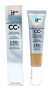 It Cosmetics CC+ Cream SPF 50 (Neutral Tan) Full Coverage, 1.08 Ounces