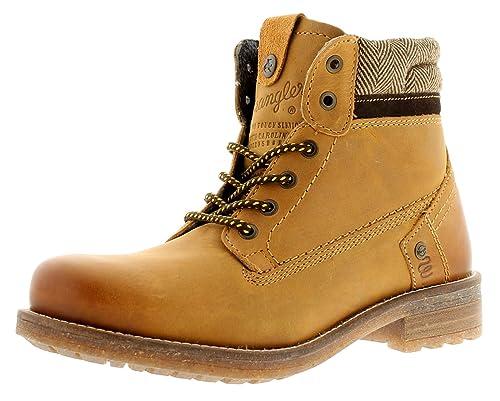 CABALLERO Cuero Vaqueros Botines con suela de goma - CAMEL - GB Sizes 7-12 - Camello, 45: Amazon.es: Zapatos y complementos
