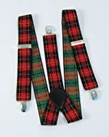 Tartan Punk Braces Adult