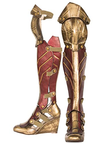4c2ee017d1 Amazon.com: The Highest Heel Women's Wonder Woman Dawn of Justice Boot Over  The Knee: Shoes