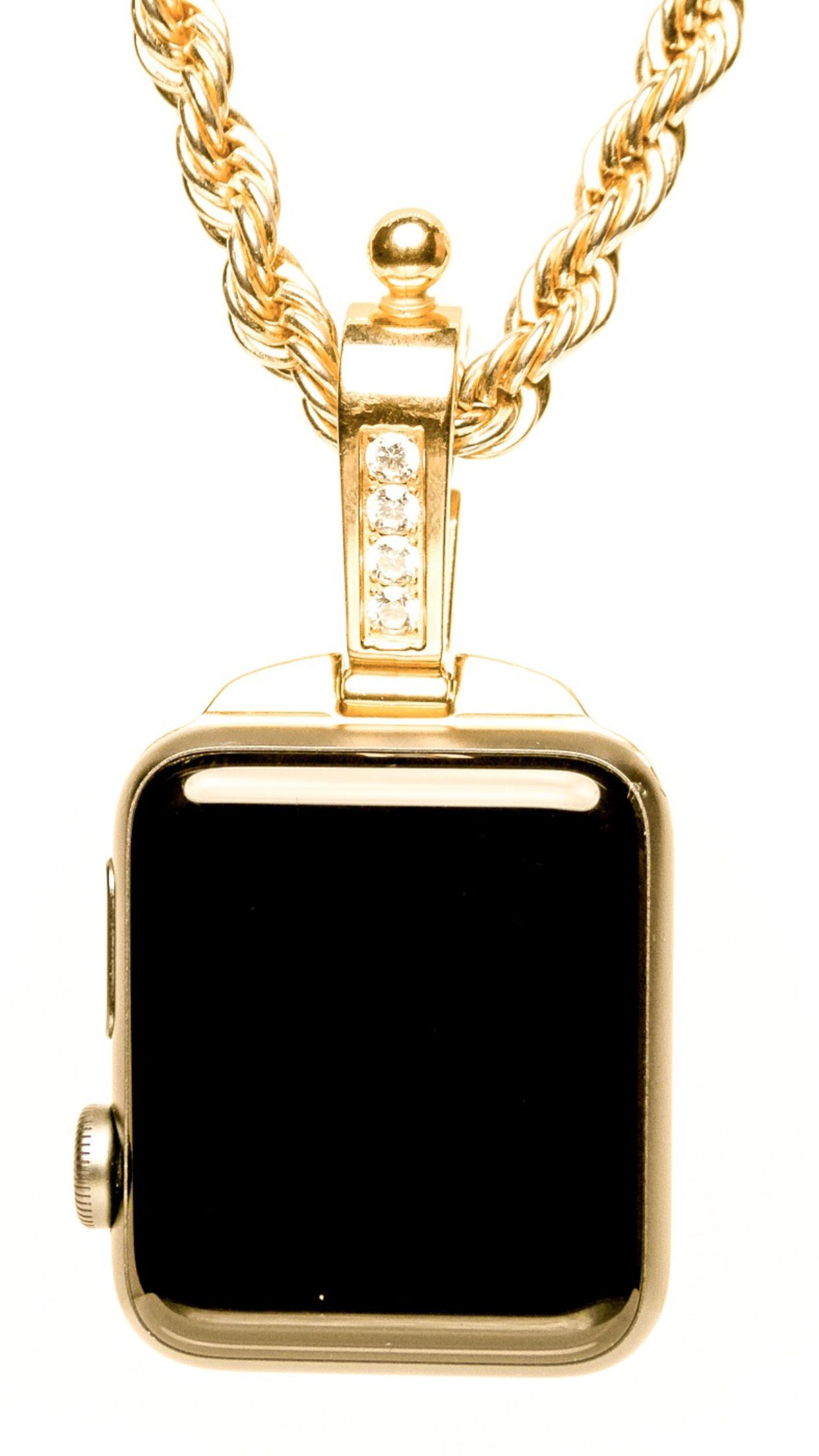 iClasp- Apple Watch Jewelry Necklace Pendant,Pocket Watch. (Gold Plated) Wear it with Original Style.