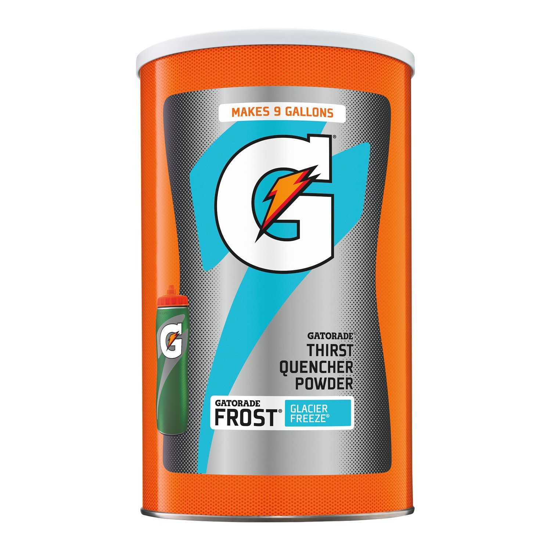 Gatorade Powdered Drink Mix, Frost Glacier Freeze, 76.5 oz., Makes 9 Gallons