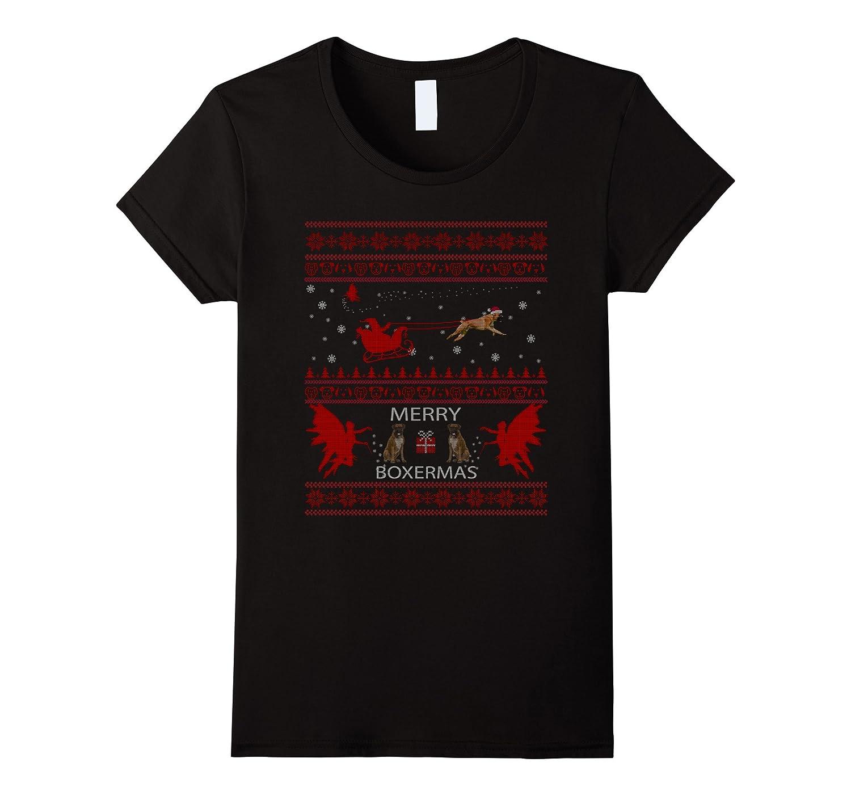 Boxer Dog Shirt Christmas Gift Women Men Mom Dad T-shirt