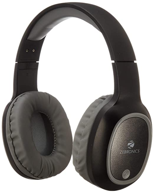 Amazon.in: Buy Zebronics Zeb-Thunder Wireless BT Headphone Comes with 40mm Drivers, AUX Connectivity, Built in FM, Call Function, 9Hrs* Playback time and Supports Micro SD Card (Black) Online at Low Prices in India | Zebronics Reviews & Ratings