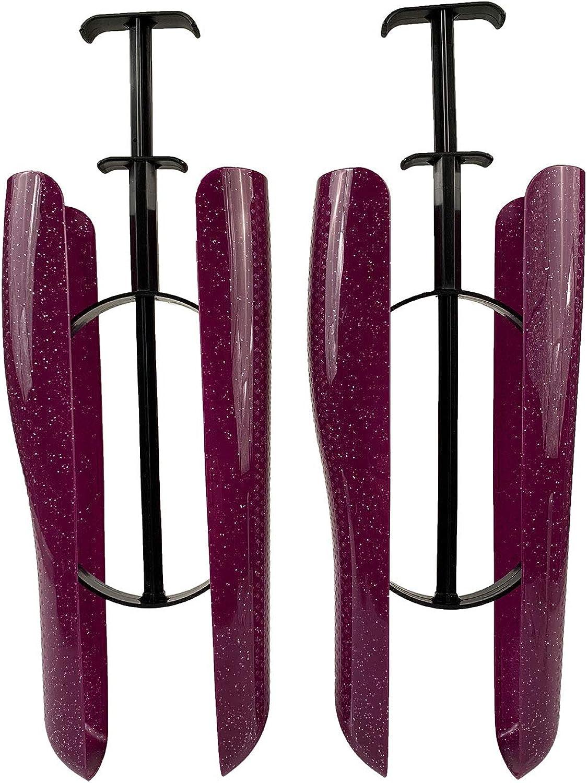 biped 1par de hormas para botas con resorte tensor y agarre horma para cañas de 35cm violeta brillante z2466