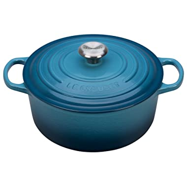 Le Creuset Signature Enameled Cast-Iron 9-Quart Round French (Dutch) Oven, Marine