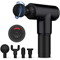 Deep Tissue Percussion Massage Gun with 6 Adjustable Speed 4 Detachable Head , Cordless Handheld Percussion Thera…