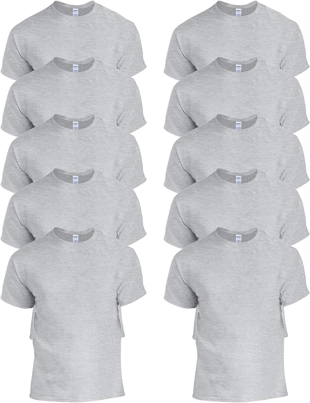 M 4XL Neuf 3XL L Gildan Homme en coton à manches longues PRESHRUNK T-Shirt S XL 2XL