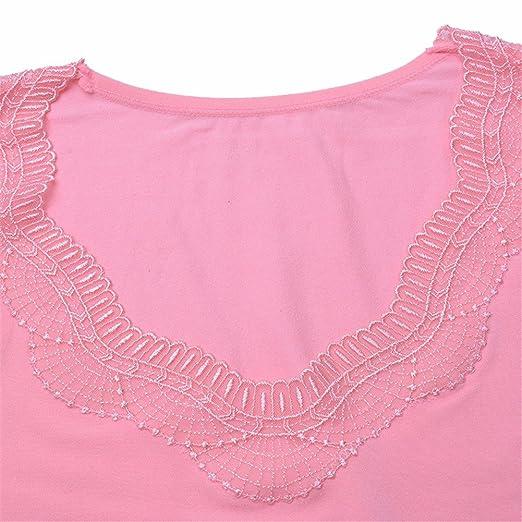 YALL Señoras Ropa Interior Collar V T-Shirt Pantalones Ropa De Abrigo De La Base De Palo,Rosa,Un Tamaño: Amazon.es: Ropa y accesorios