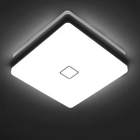 Öuesen LED 24W lámpara de techo resistente al agua moderna LED luz ...