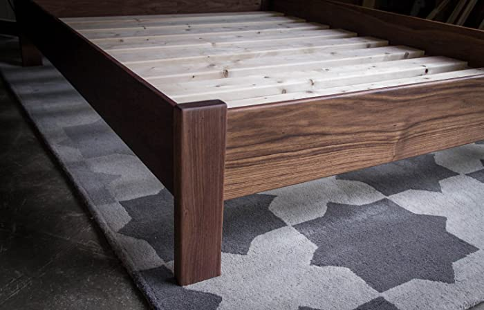 Simple American Hardwood Platform Bed Frame, Queen Size, With Slats,  Shipping Included
