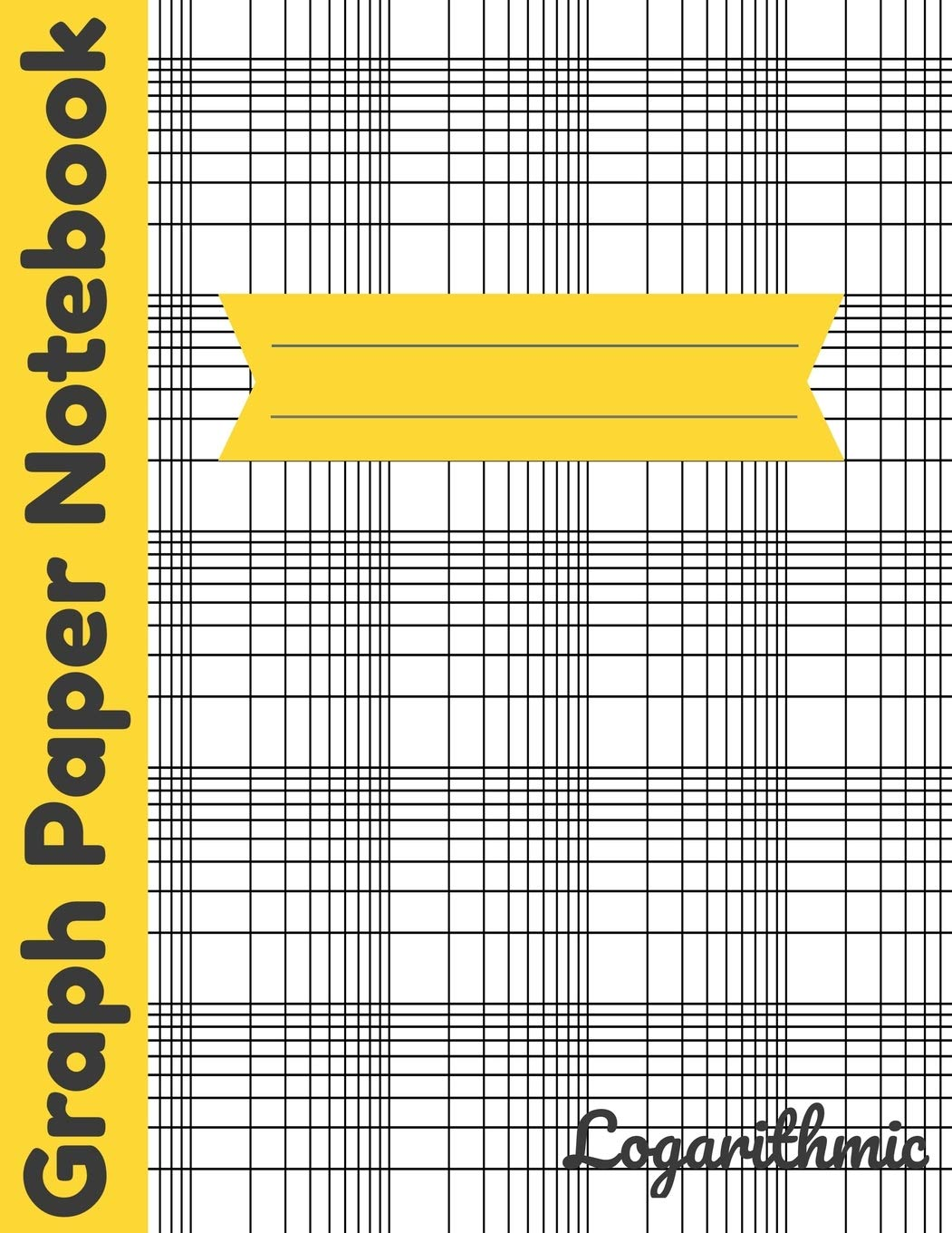 Logarithmic Graph Paper Notebook: Log-Log Scales Plotting Graphing ...
