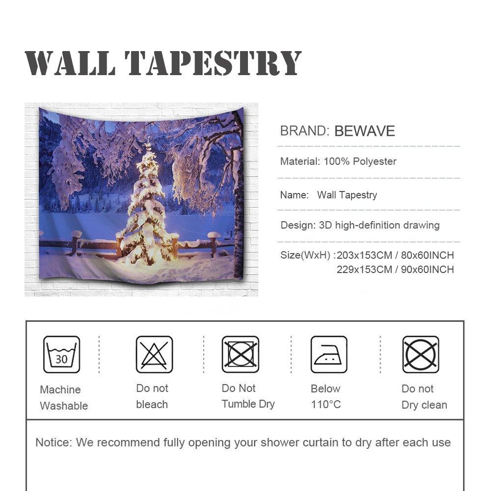 203x153CM, Merry Bell Ball Tapiz de Vacaciones para Sala de Estar hogar Dormitorio Mural BEWAVE Decoraciones navide/ñas Tapiz