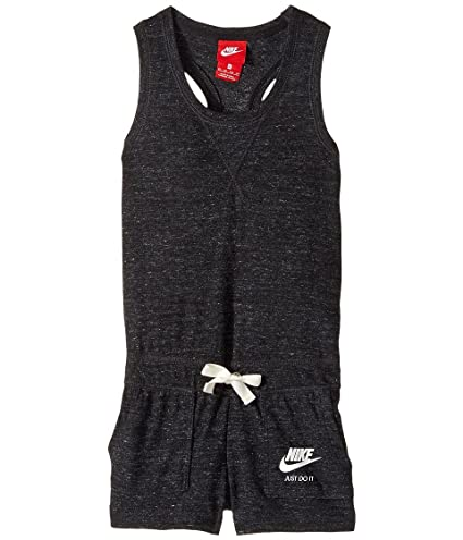 reputable site 9d6dc 5f2e0 Amazon.com   Nike Kids Sportswear Vintage Romper Little Kids Big Kids  Black Sail Sail Girl s Jumpsuit Rompers One Piece   Everything Else