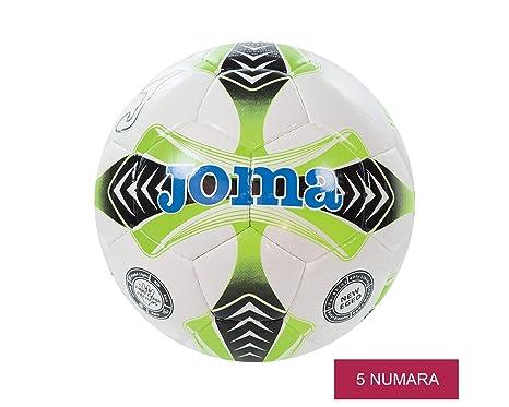 Joma sport - Balón de fútbol egeo 13.5 blanco-lima-negro, talla 5 ...