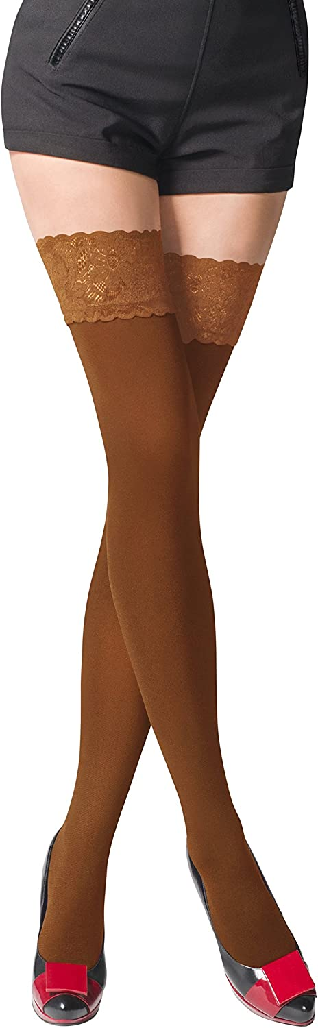 9 Colours Sizes S-XL Opaque 80 Denier Microfibre Hold Ups Stockings by Romartex