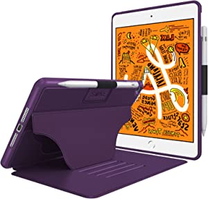Soke Case - iPad Mini 5 Case 2019 (5th Generation), [Luxury Series] Extra Protective But Slim, Strong Magnetic, 4 Convenient Stand Angles, Auto Sleep/Wake Cover, Elastic Pencil Holder(Purple)