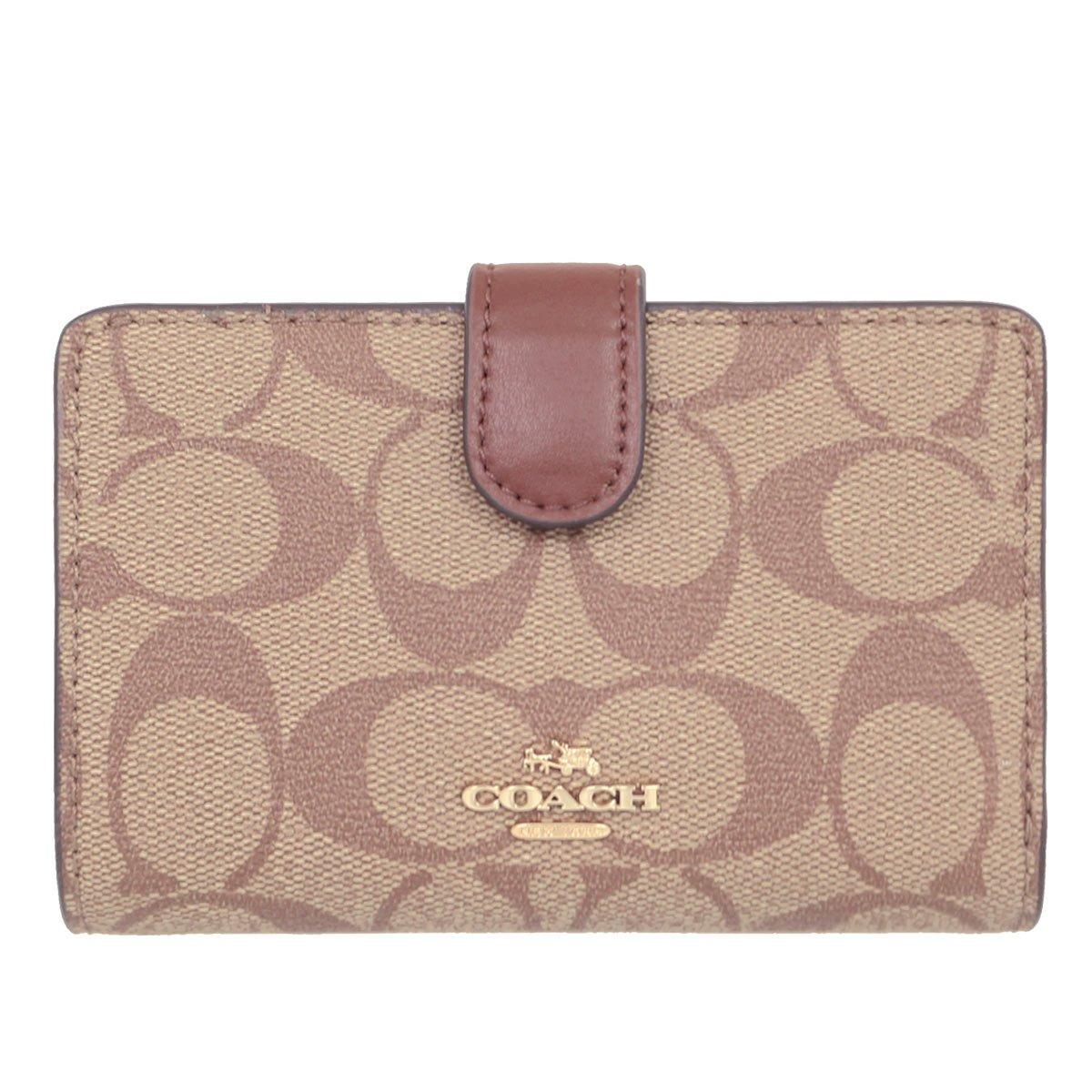 [コーチ] COACH 財布 (二つ折り財布) F23553 シグネチャー 二つ折り財布 レディース [アウトレット品] [並行輸入品] B077KFJS7T カーキ×サドル2 カーキ×サドル2