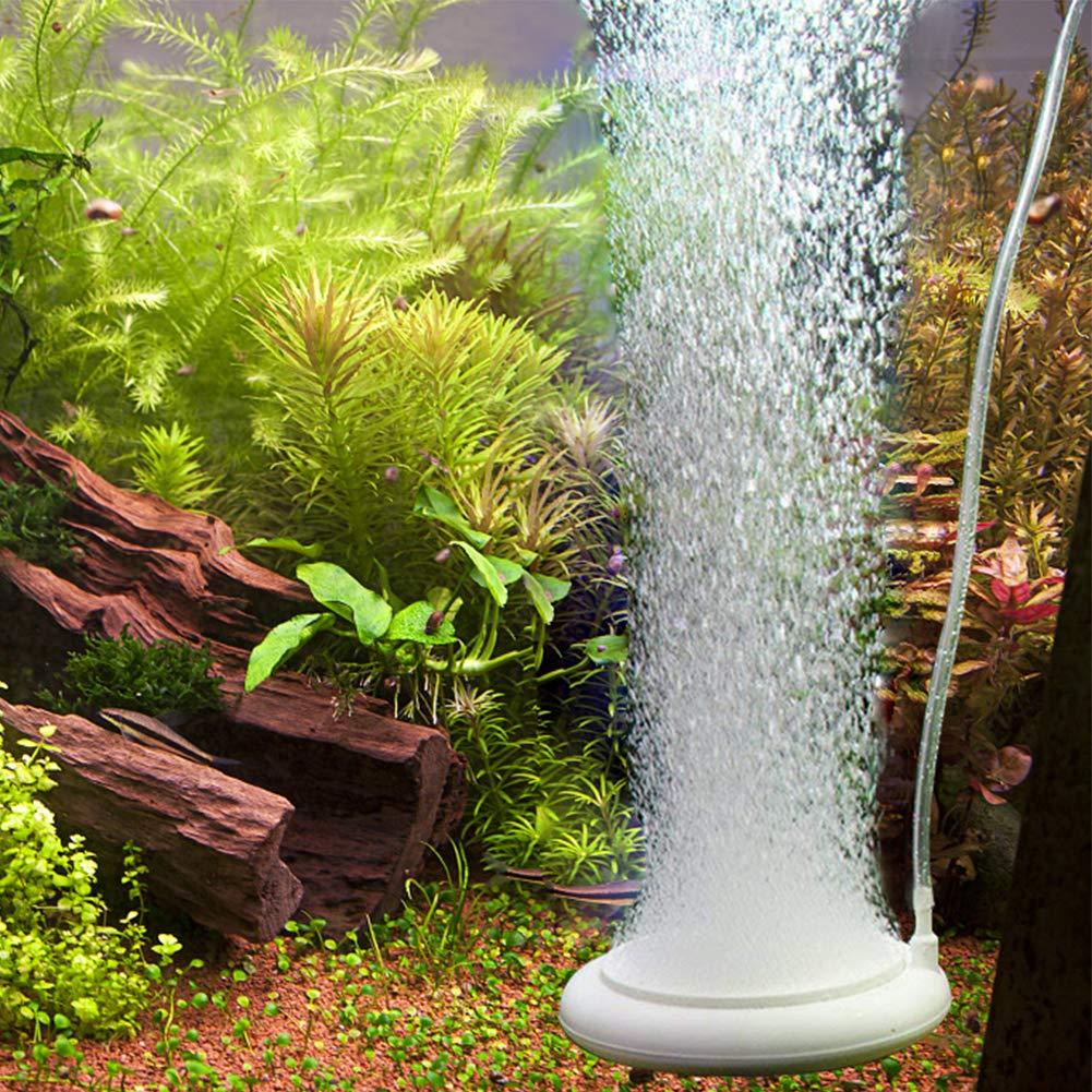 Pawfly Micro Bubble Air Diffuser 4  Air Stone Disc with Control Valve for Hydroponics Aquarium Fish Tank Air Pump