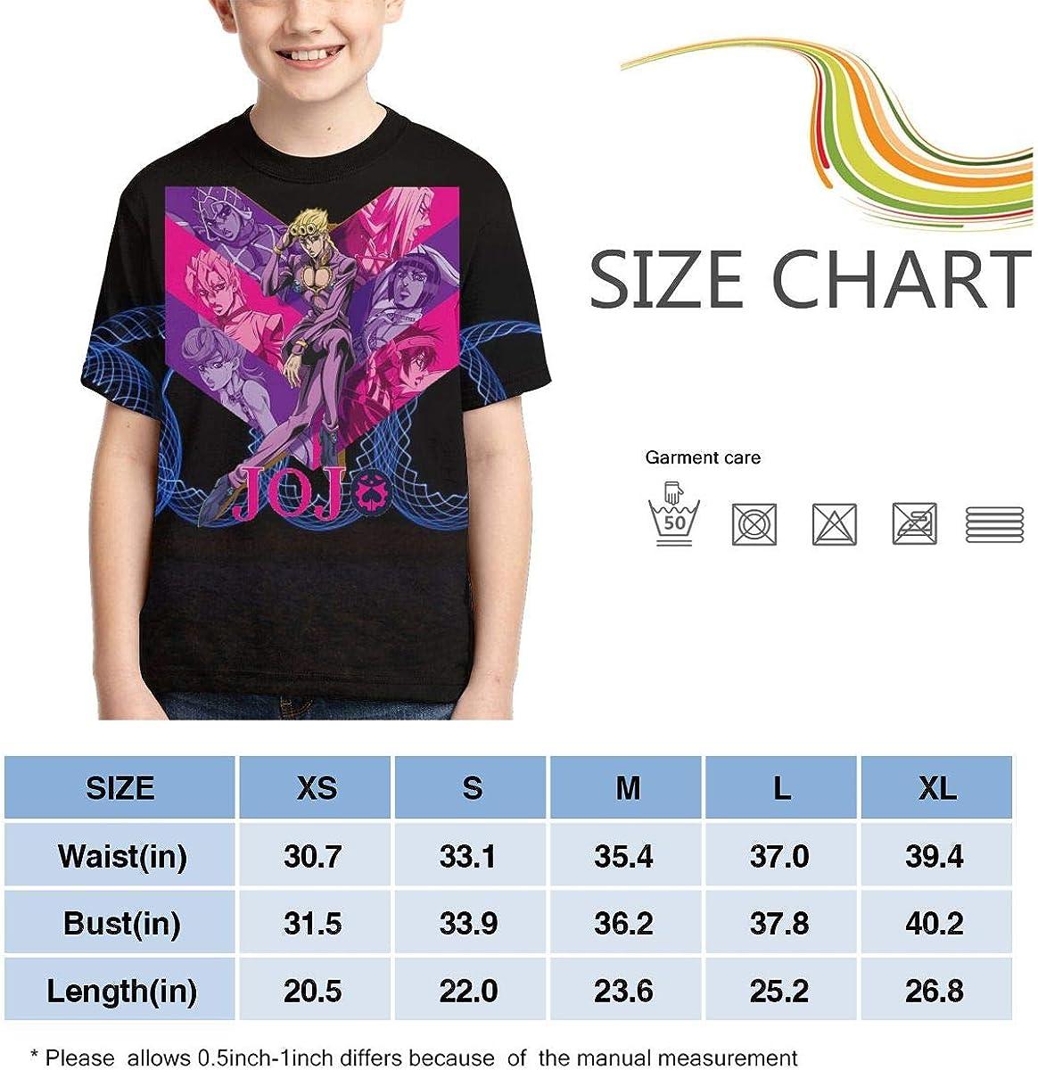 Zengqinglove Boys,Girls,Youth JoJo S Bizarre Adventure Golden Wind Meets Tower Records Tee Shirt