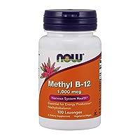 NOW Supplements, Methyl B-12 (Methylcobalamin) 1,000 mcg, Nervous System Health*, 100 Lozenges