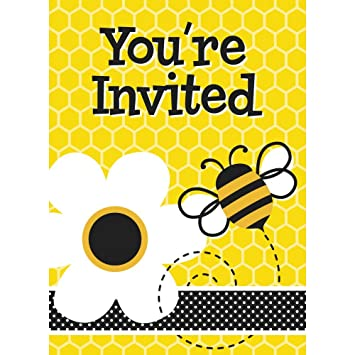 Amazon Com Honey Bee Party Invitations Childrens Party