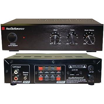 AudioSource AMP 50 2.0 Hogar Alámbrico Negro - Amplificador de audio (2.0 canales, 1