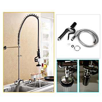 Kitchen Sink Faucet Rinse Spray Head Faucet Tap Sprayer + High Pressure  Flexible Hose For Commercial