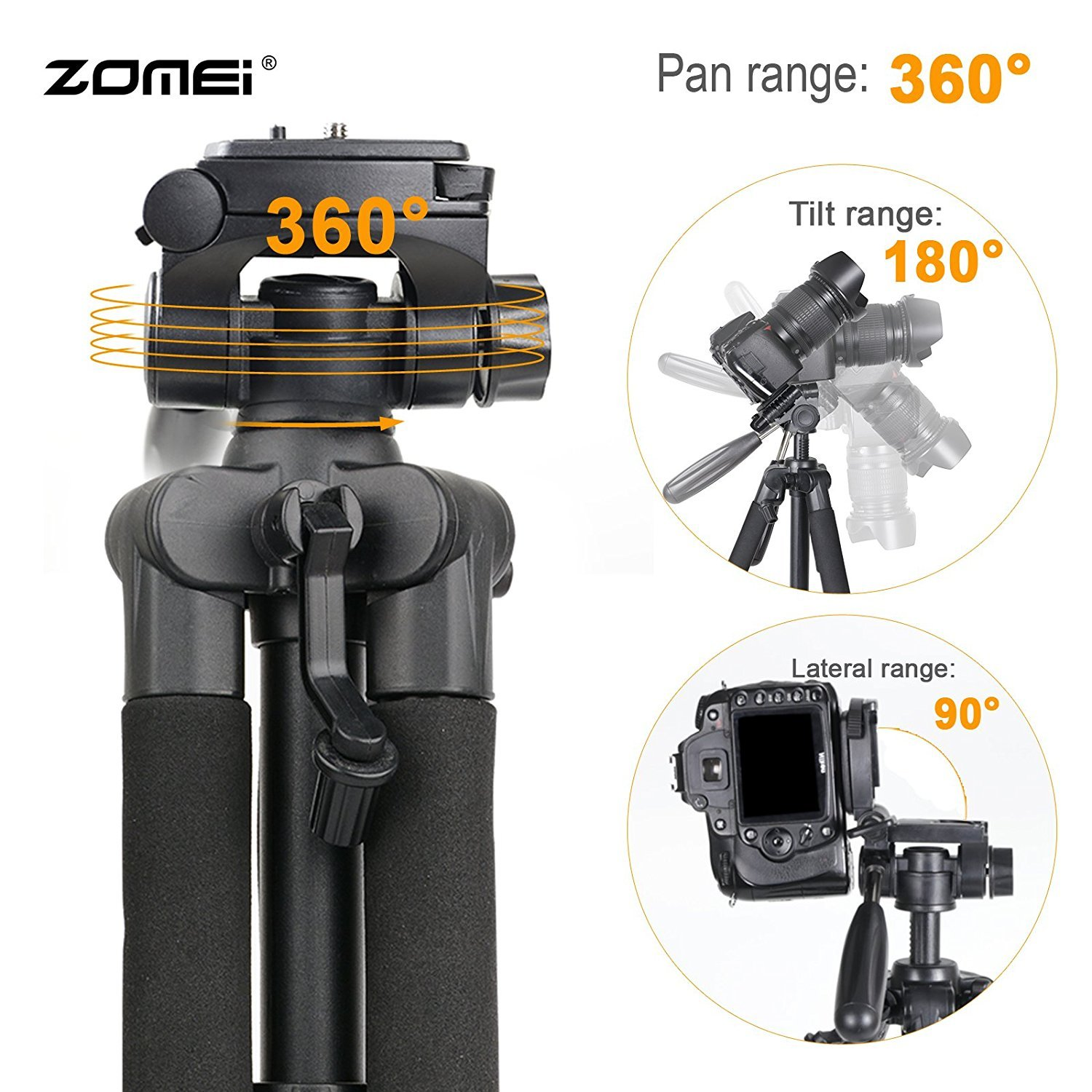 Zomei Q111 Pan Head Camera Tripod 55\