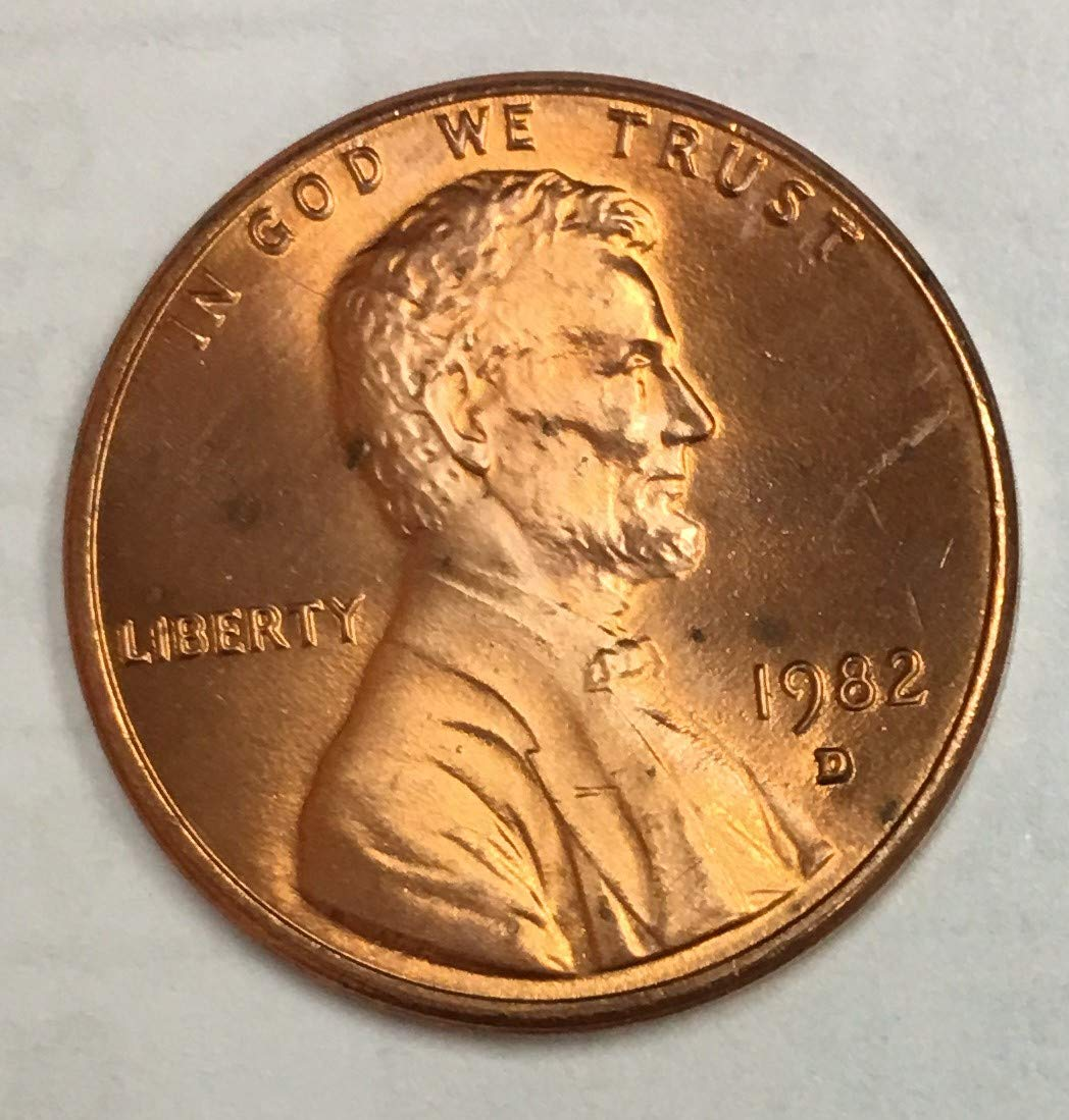 1982 Small Date Zinc Lincoln Cent /</> UNCIRCULATED Red