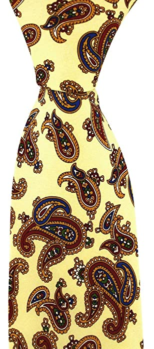 David Van Hagen Pastel corbata Vintage Amarillo: Amazon.es ...