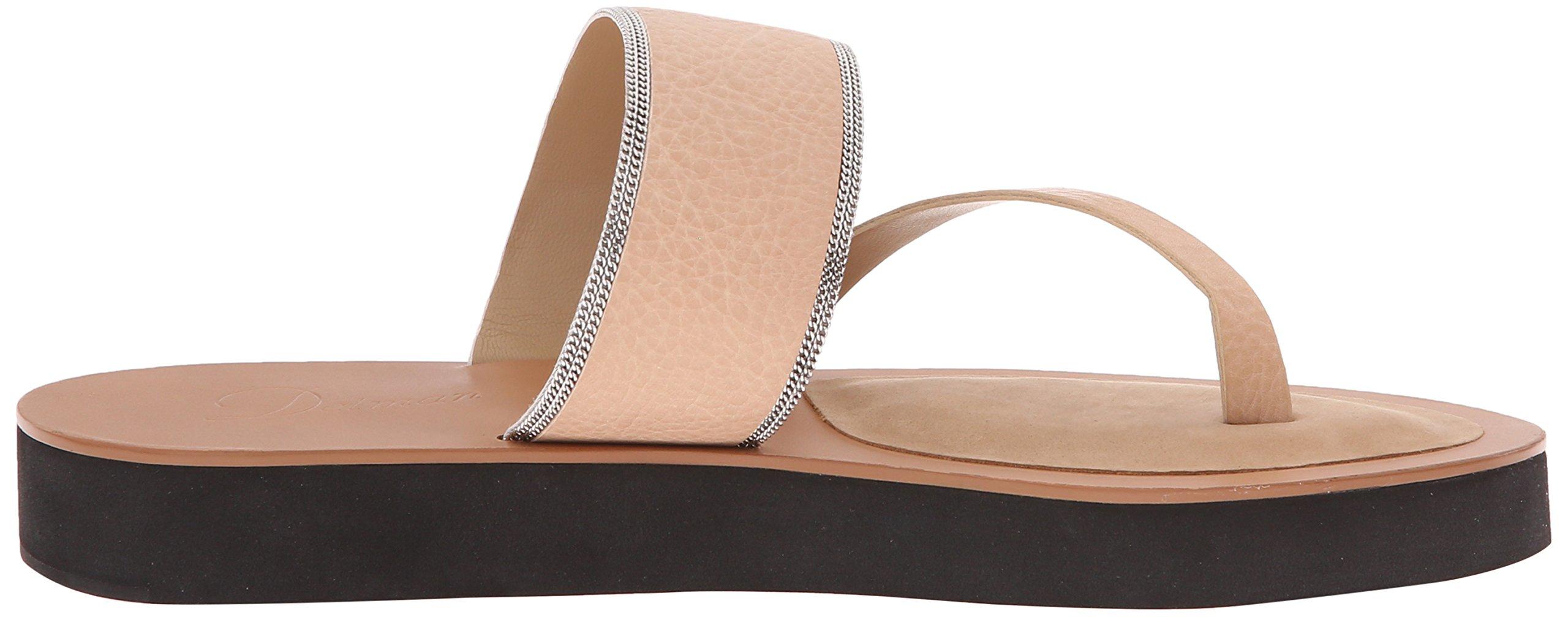 Delman Women's D-Una-V Slide Sandal, Sand Dune Vachetta/Fine Chain, 9.5 M US by Delman (Image #7)