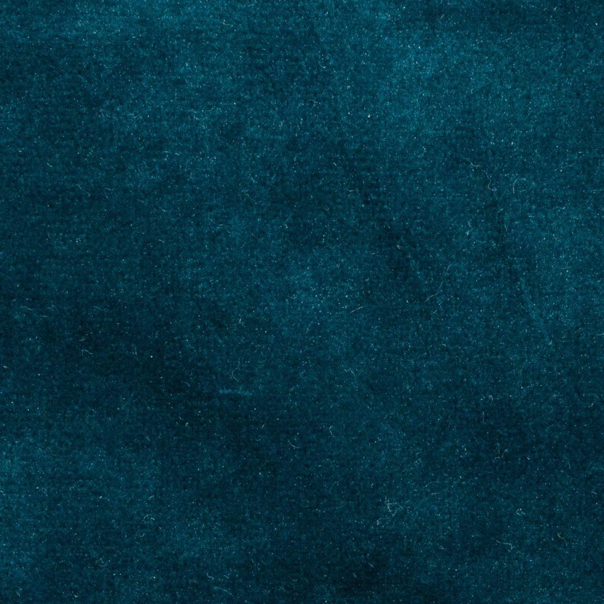 Rideau Occultant en Velours Bleu p/étrole la Dolce Vita 140 x H260 Atmosphera