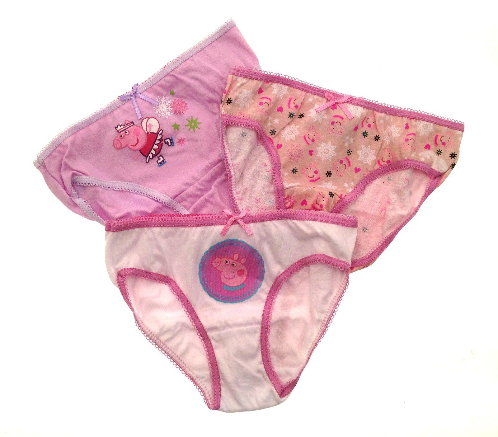 GIRLS KNICKERS BRIEFS PANTS DISNEY PEPPA PIG PINK 3 PACK 100/% COTTON £4.50